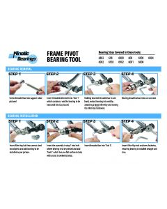 Frame Pivot Bearing Removal & Installation Tool (for 6801 Bearing 12x21x5mm)
